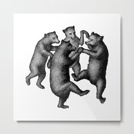 Dancing Bears Metal Print