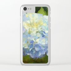 Blue Hydrangeas Clear iPhone Case