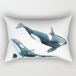 Killer Whales - Orcas Rectangular Pillow