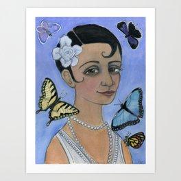Wings of Summer, Four Seasons Portrait Art Print
