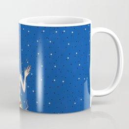 Drowning Mermaid blue sea and pattern corals Coffee Mug