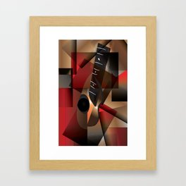 Man in red playing the guitar Framed Art Print