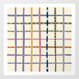 Colorful Patterned Grid Art Print