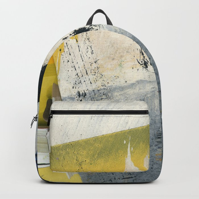 Mellow Yellow Texture Collage Backpack