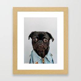 Pug Got Style Framed Art Print