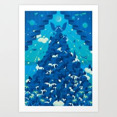 Curtain of Night Art Print