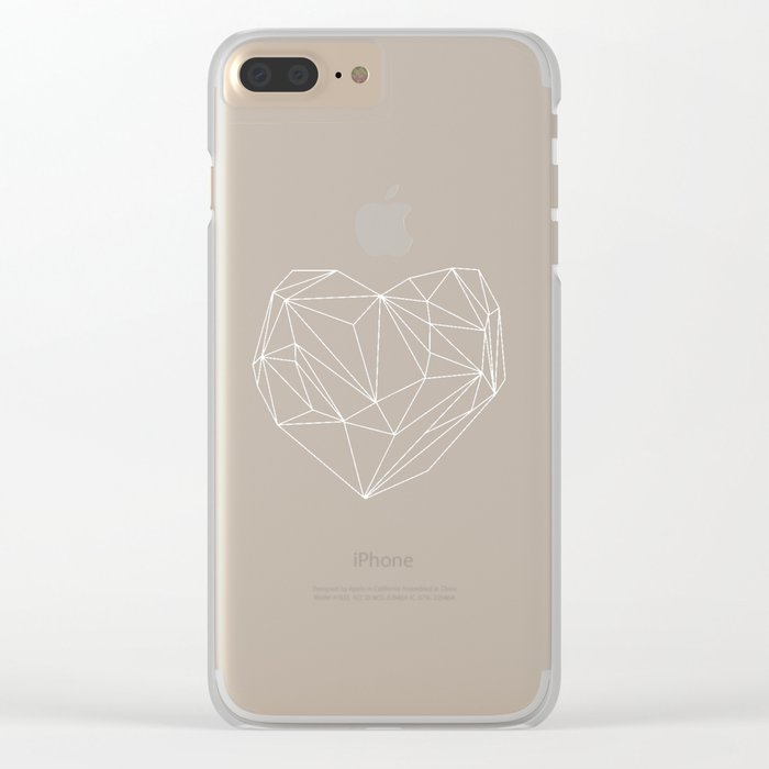 Heart Graphic 6 Clear iPhone Case