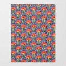 Bright Floral Arches Canvas Print