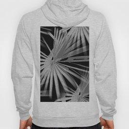 Gray Grey On Black Tropical Vibes Beach Palmtree Vector Hoody