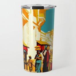 See India - Vintage Travel Travel Mug
