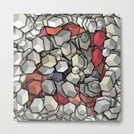 Chaotic 3D Cubes Metal Print