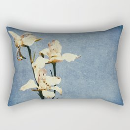 White Delphinium of Forgetfulness Rectangular Pillow