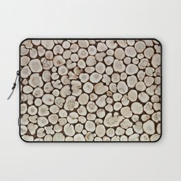 Background of wooden slices tree Laptop Sleeve