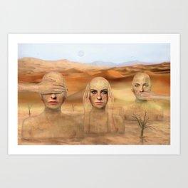 Desert status Art Print