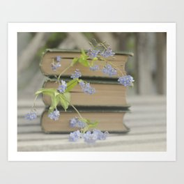 Forget Me Not Bookmark Art Print