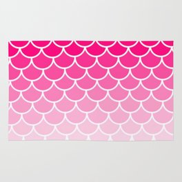 Ombre Fish Scale In Strawberry Rug
