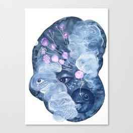 The rabbit mask Canvas Print