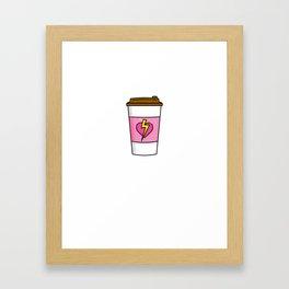 Womens Funny Coffee Mom Superhero Inspired design - Coffee Mom Gift Framed Art Print