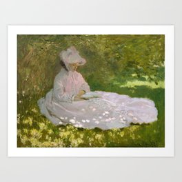 Monet, Springtime, 1872, oil on canvas Art Print