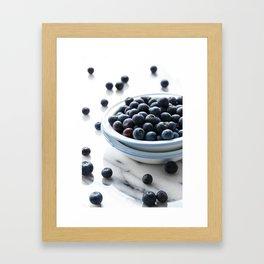 Bowl of Blueberries Framed Art Print