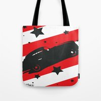 ford Tote Bags featuring Hot Ford by Artist Milicent Fambrough