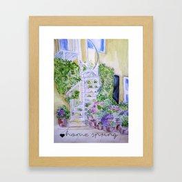 House spring Framed Art Print