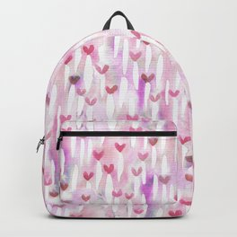 Pink Watercolor Hearts for Her Backpack