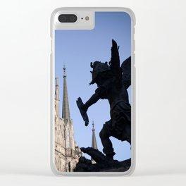 Battle (Marienplatz Detail) Clear iPhone Case