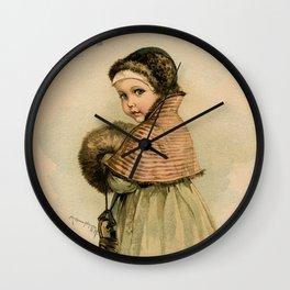 Scandinavian Girl Maud Humphrey Wall Clock
