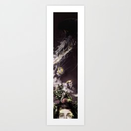 Self portrait with Jellyfishes Art Print
