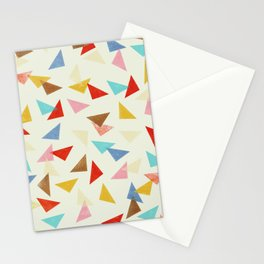 Multi coloured triangles in pastel shades Stationery Cards