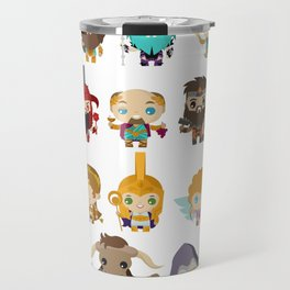 chibi kawaii gods of the greek mythology Travel Mug