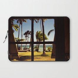Tropical Fiji Beach Scene Laptop Sleeve