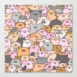 Pigs, Piglets & A Swine! Canvas Print