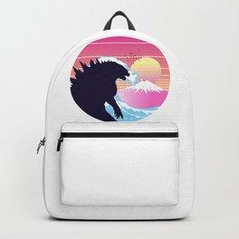 Godzilla retro waves  Backpack