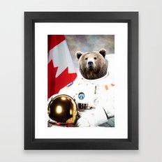 Astronaut Bear Framed Art Print