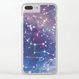 Star Constellations Clear iPhone Case