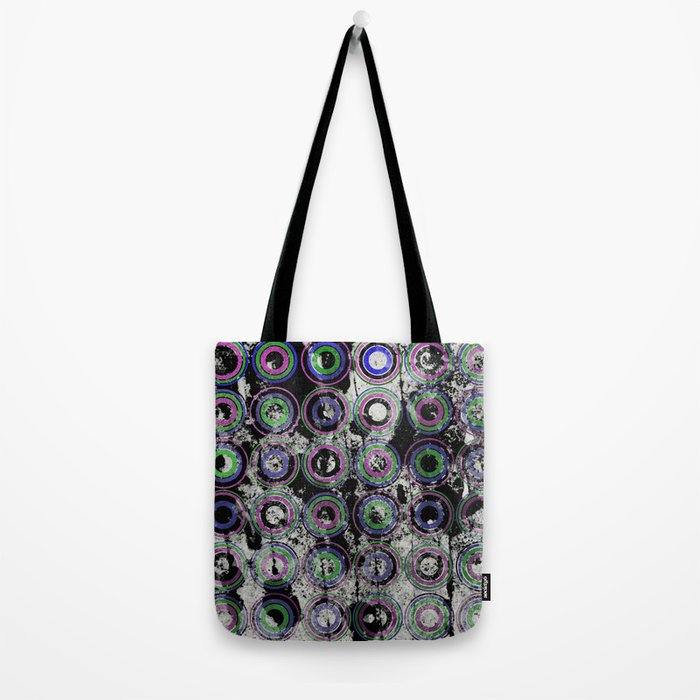 Urban Rings Pattern III - Textured Abstract Tote Bag