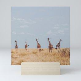 Hello Giraffes Mini Art Print