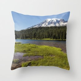 Mt Rainier from Reflection Lake, No. 2 Throw Pillow