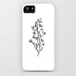 Larkspur Wildflower iPhone Case