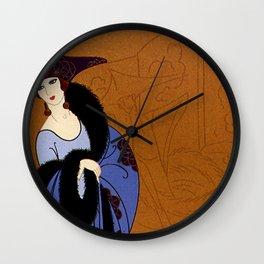 "Art Deco Illustration ""Victim of Art"" by Erté Wall Clock"
