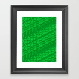 Video Game Controllers - Green Framed Art Print