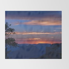 Colorful Sunset - North_Rim, Grand_Canyon, AZ Throw Blanket