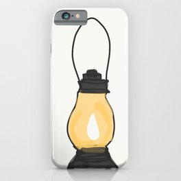 Indian Lantern Lamp | Minimalist Art iPhone Case