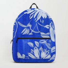 blue and white: flowers N.o 1 Backpack