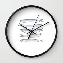 anchovies in my pantry Wall Clock