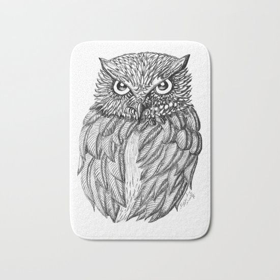 Fierce Owl Bath Mat