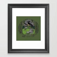 Happy Knight Framed Art Print