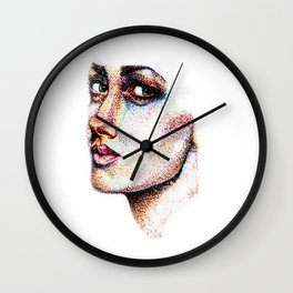 Portrait Pointed Out Wall Clock